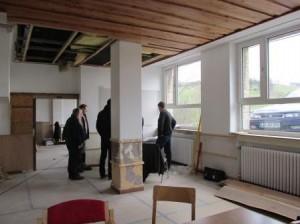 Früher ein Speiseraum, nun findet hier die Baubesprechung statt. (Quelle: Rainer Burggraf)