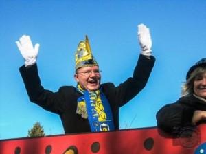 Gute Laune von hoch oben: Thomas Krelle, Vorsitzender der DJO Merkstein. (Quelle: DJO Merkstein)