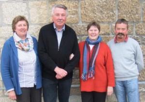 Der alte und neue Vorstand des Fördervereins Himmighausen. (Quelle: F.G.B.H.)
