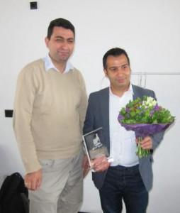 Ramazan Sevinc von Synko Synergie Köln e.V. übergab den Preis. (Foto: Dr. Christian Kahl)
