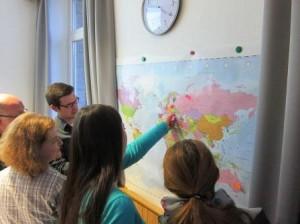 An der Weltkarte erkennen: Die Deutschen waren auch immer ein Auswanderervolk (Quelle: Dr. Christian Kahl)