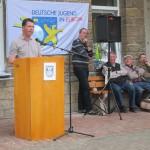 : Bürgermeister Rainer Vidal betont das gute Verhältnis zwischen Ortschaft und Bildungsstätte (Quelle: Dr. Christian Kahl)