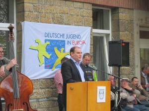 """""""Unsere Bildungsstätte steht allen offen"""", betonte der Landesvorsitzende, Christian Gradt (Quelle: Dr. Christian Kahl)"""