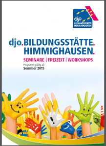 Das neue Programmheft für Schulklassen der djo.Bildungsstätte.Himmighausen. (Quelle: djoNRW)