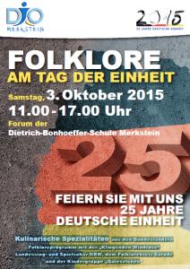 Ein Vierteljahrhundert deutsche Einheit: Die djoNRW feiert in Merkstein (Quelle: DJO Merkstein)