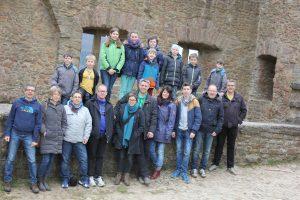 Burg Lichtenberg in der Westpfalz: Von hier unternahmen die Teilnehmer gut gelaunt ihre Ausflüge (Quelle: DJO Merkstein)