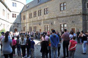 Neben der Jugendherberge befinden sich auf der Wewelsburg auch Museen. Hier konnten die djo`ler viel Neues erfahren. (Quelle: djoNRW)