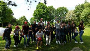 Viele Jugendliche kamen zum Klettertag nach Paderborn (Quelle: Nora Liebetreu)