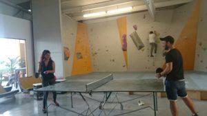 Zwischen durch gab es eine Runde Tischtennis (Quelle: Orshina Youssef)