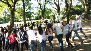 Ein Fest zum Mitmachen: Gute Laune und super Stimmung herrschten beim AJM-Sommerfest (Quelle: Nora Liebetreu)
