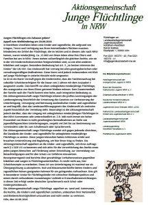 Keine Kompromisse bei den Rechten, die Kindern und Jugendlichen zustehen (Quelle: Aktionsgemeinschaft Junge Flüchtlinge in NRW)