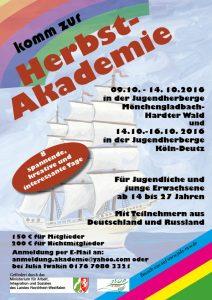 Einladung zur Herbstakademiemit dem JSDR (Quelle: http://jsdr-nrw.de)
