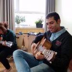 Musikworkshop (Quelle: Jugendverbandsarbeit mit jungen Geflüchteten)