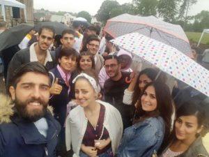 Auch das regnerische Wetter trübte die gute Stimmung nicht (Quelle: djoNRW/AJM)