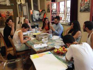 Wie kann man das Thema Flucht, Integration und Freundschaft malen. Eine Ausstellung im November wird es zeigen (Quelle: djoNRW/AJM)