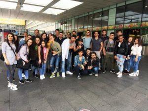 Dass Essen und Bochum viel zu bieten haben, erfuhren die jungen Reisenden bei ihrer Tour ins Ruhrgebiet (Quelle: djoNRW/AJM)