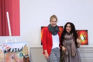 Sie können stolz auf sich sein: Nora Liebetreu und Maya Yoken haben mit viel Energie und Leidenschaft die Projekte unterstützt (Quelle: AJM e.V./djoNRW)