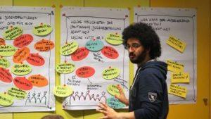 Ronas Karakas leitet den Workshop Jugendpolitik. Auch im Vorstand unterstützt er künftig als Beisitzer (Quelle: djoNRW)