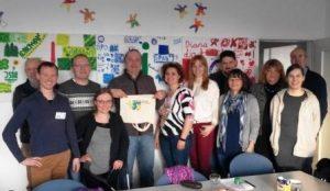 Gut gelaunt und mit vielen Ideen trifft sich die Planungsgruppe für das djoNRW Kulturprojekt 2018 (Quelle: Timo Scholz)