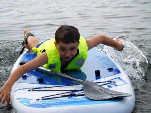 Der Spaß steht im Vordergrund – auch auf dem Wasser (Quelle: djoNRW)