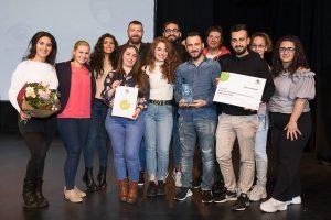 Ihre Teilnahme am buntblick18 hatte sich gelohnt: Glückwunsch an den AJM Landesverband NRW (Quelle: LJR NRW)
